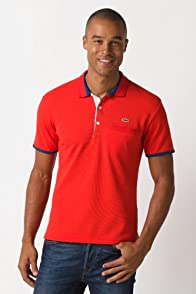 Short Sleeve Semi Fancy Pique Polo With Pocket