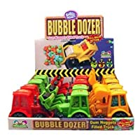 Kidsmania Bubble Mania Bubble Dozer Trucks Filled with Gum Nuggets (Pack of 12)