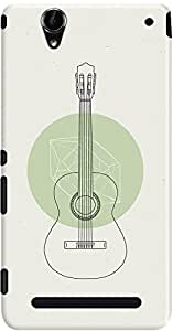 DailyObjects White Guitar Case For Sony Xperia T2 Ultra