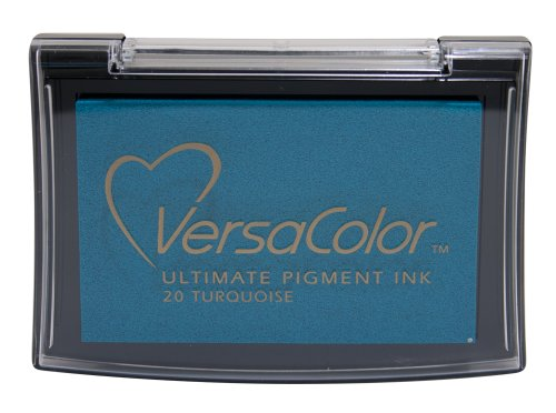 Tsukineko Full-Size Versacolor Ultimate Pigment Inkpad, Turquoise front-135968