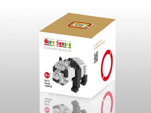 Loz Micro Blocks - Panda Model - Small Building Block Set - Nanoblock Compatible 130 pcs - Makes a Great Stocking Stuffer
