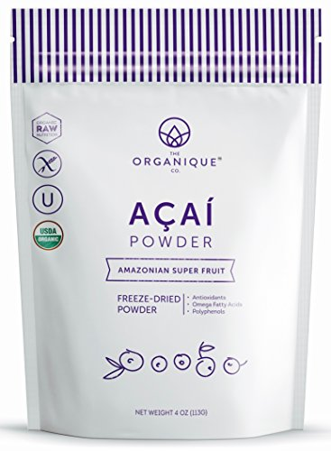 The Organique Co. Freeze-Dried Organic Raw Acai Superfood Powder - 4 oz (Organic Freeze Dried Acai Powder compare prices)