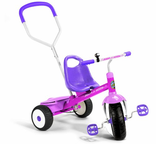 Radio Flyer 53G Girls Deluxe Steer and Stroll Trike, Pink