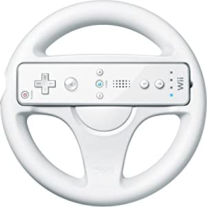 Official Nintendo Wii Wheel Wii Remote Controller not included by Nintendo