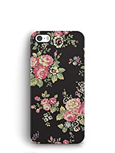 Cover Affair Flowers Printed Back Cover Case for Apple iPhone 5