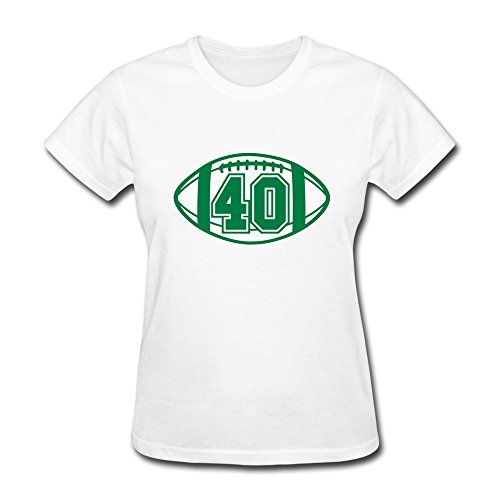 100% Cotton Team 40 Football T-Shirt For Ladies - Round Neck front-731466