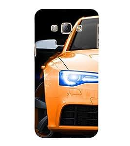 EPICCASE Orange Car Mobile Back Case Cover For Samsung Galaxy A5 (Designer Case)