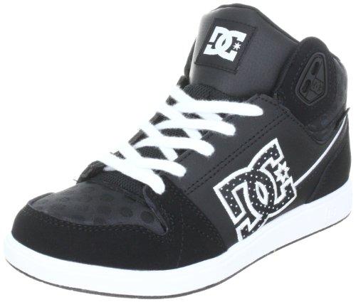 DC Women's University Mid Black/Black/White Skate Shoes D0303211 3 UK, 36 EU, 5 US