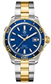 Tag Heuer Aquaracer Blue Dial Yellow Gold Plated and Stainless