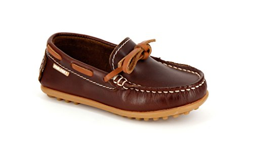 Pablosky Unisex, bambini 120490 Scarpe da barca con lacci, (Marron), 40