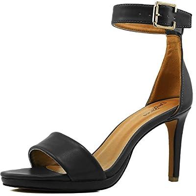 Women's High Heel Open Toe Ankle Buckle Strap Platform Evening Dress Casual Pump Sandal Shoes