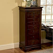 Hot Sale Powell 508-315 Louis Philippe Jewelry Armoire