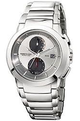 Kenneth Cole Men's KC3668 Reaction Silver Dial Silver-Tone Bracelet Watch