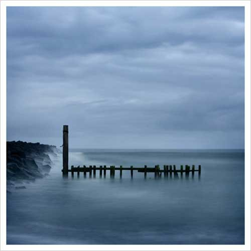 Jetty in Blue Art Print Poster by Shane Settle