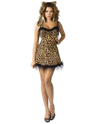 Adult-Costume Jungle Kitty Sm/Md 2-8 Halloween Costume