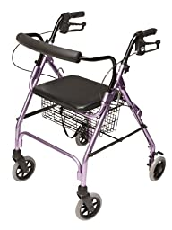 Lumex Walkabout Lite Four Wheel Rollator, Lavender