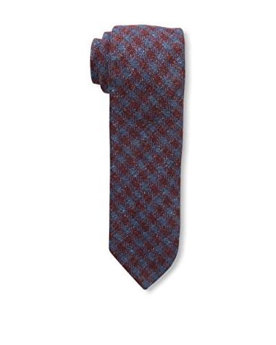 J. McLaughlin Men's Plaid Tie, Blue/Red