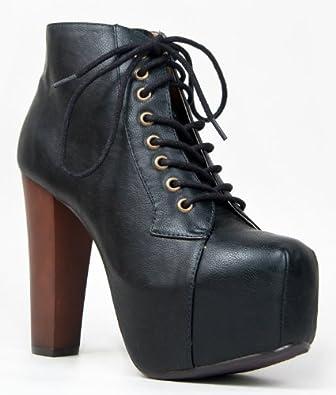 ZooShoo Women Rosa Boots Black Pu 8