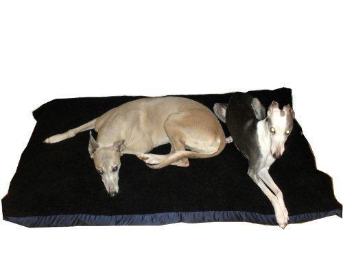 Artikelbild: Kosipet mittelgroße Ersatzdecke aus Sherpa Fleece für Hundebett, Schwarz, Haustierbett, Hundebett