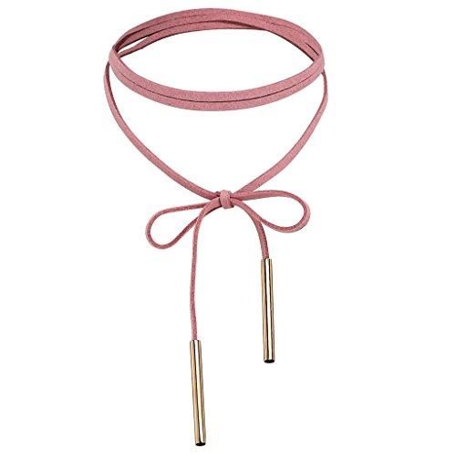 beydodo-edelstahl-halsketten-fur-frauen-madchenchoker-halskette-bar-gotisch-gold-rosa-136x04x15cm