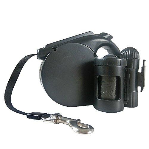 Poop Bag Dispenser /& Collar Light,Bundle 16Ft Retractable Dog Leash with Light
