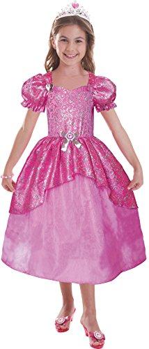 Joker CA14182V2-S - Costume Barbie Principessa Rosa - Taglia S