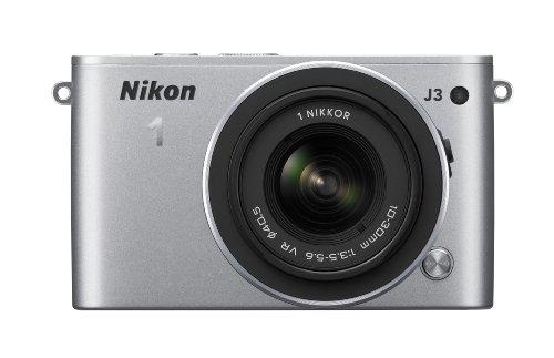 Nikon ミラーレス一眼 Nikon 1 J3 標準ズームレンズキット1 NIKKOR VR 10-30mm f/3.5-5.6付属 シルバー N1J3HLKSL