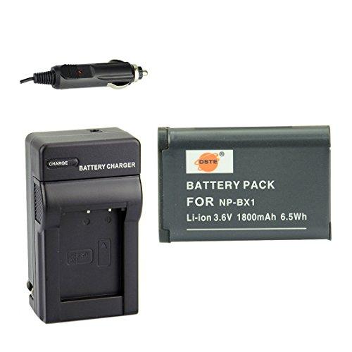 DSTE® アクセサリーキットNP-BX1 互換 カメラ バッテリー 1個+充電キット対応機種 Cyber-shot DSC-RX1 RX1R RX100 II III HX50V HX90V HX300 WX300 WX500 HDR-GWP88V GW66V CX240 AS15 DSC-RX1RM2