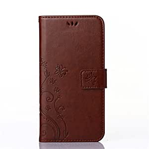 Flowers Butterfly Pattern Inside and Outside Printing Holder PU Leather for Samsung Galaxy Note 4(Assorted Colors) #04751416