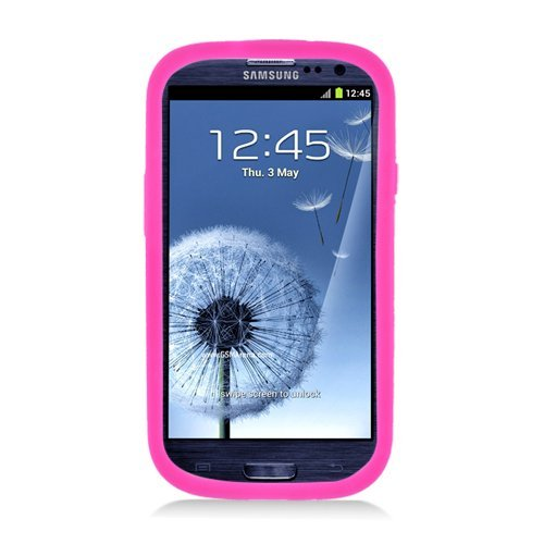 Eagle Cell Armor Skin and Hard Case with Bottle Opener and Stand for Samsung Galaxy S3 - Retail Packaging - White/Hot Pink (Bottle Opener Case For Galaxy S3 compare prices)