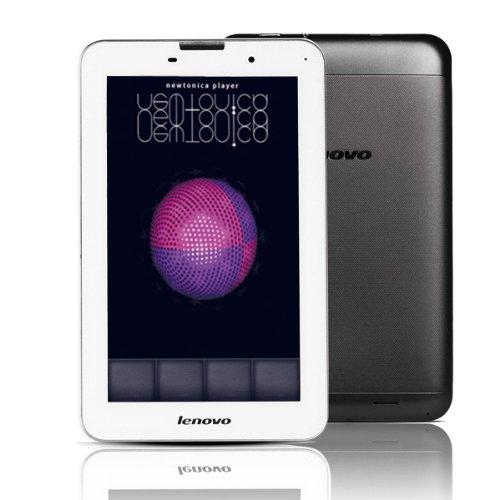 SIMフリーlenovo ideaTab A3000 Android4.27インチIPS / 1.2GHzクアッドコア / 3G+GSMデュアルSIM モバイルバッテリー050IP電話プリカ付[並行輸入品] (16GB ROM, ブラック)