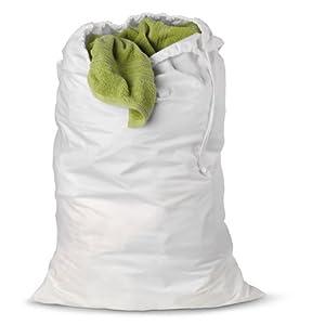 Honey-Can-Do LBG-01140 Cotton Laundry Bag, White