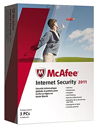 McAfee internet security 2011 (3 postes, 1 an)