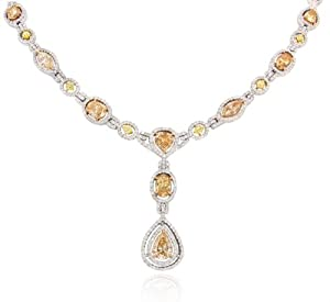 Diamond & 18k White Gold Pendant Necklace