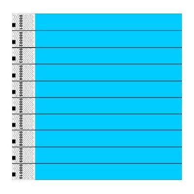 Tyvek Wristbands, Plain, Sky Blue, 100 Pack