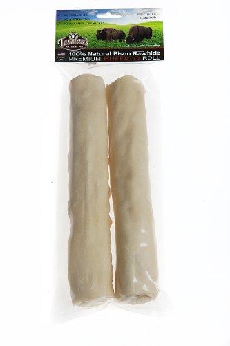 All-Natural Buffalo Rawhide Rolls - 2 Large Rolls