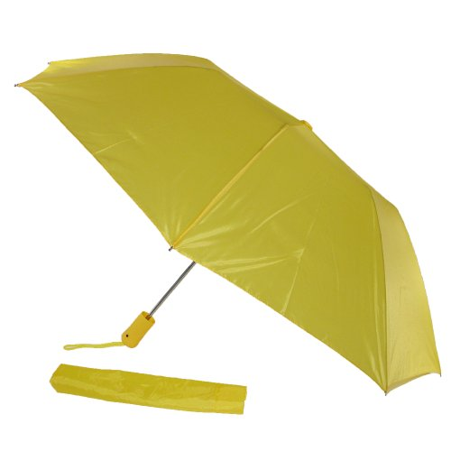Rainkist Compact Auto Open Folding Umbrella (Yellow)