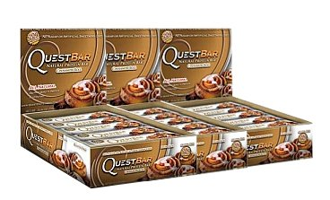 Quest Bar Cinnamon Roll: Box Of 12, Pack Of 3
