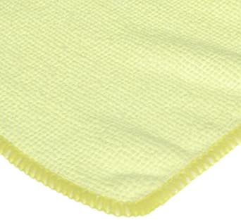 CPI MCLOTH Y General Purpose Microfiber Cloth, 16-Inch x 16-Inch, Yellow (Pack of 12)
