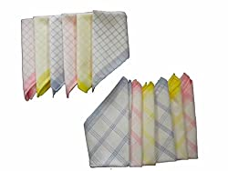 Milano 100% cotton Ladies hankies (12 pcs)