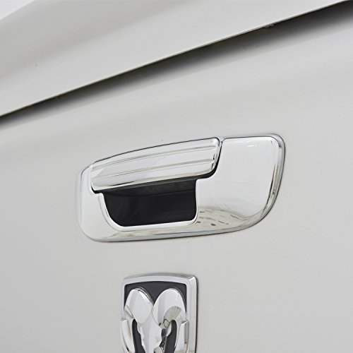 E-Autogrilles Triple Chrome ABS Exterior Accessories Trims Tailgate Door Cover for 02-08 Dodge Ram 1500 / 03-09 Dodge Ram 2500/3500 (64-0203)