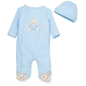 Baby's Store | Little Me Bear Layette Blue