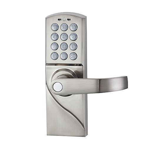 HAIFUAN Right Hand Digital Keypad Door Lock With Backup Keys, Electronic  Keyless Entry By Password Code Combination