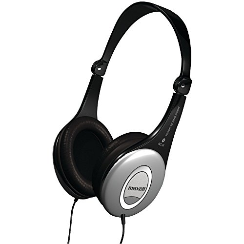 Maxell Signature Series Noise Cancellation/ Portable Stereo Headphones Hp/Nc-Iii 190402 Silver (Foldable & Lightweight) Automatic Noise Reduction - Digital Ready