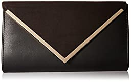 Aldo Varina Envelope Clutch, Black Suede, One Size