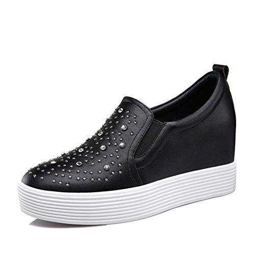Casuale scarpe con la suola spessa/Un pedale/TOU Shui trapano scarpe tempo libero-A Lunghezza piede=24.3CM(9.6Inch)