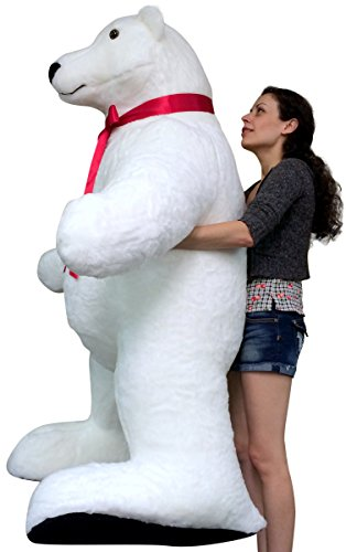American Made Giant Stuffed Polar Bear 5 Feet Tall And Almost 3 Feet
