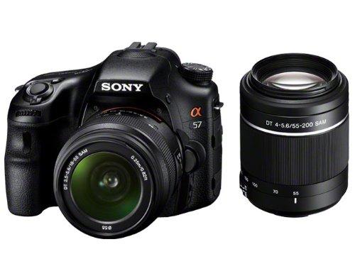 ソニー デジタル一眼カメラ「α57」ダブルズームレンズキットSONY α57 SLT-A57Y