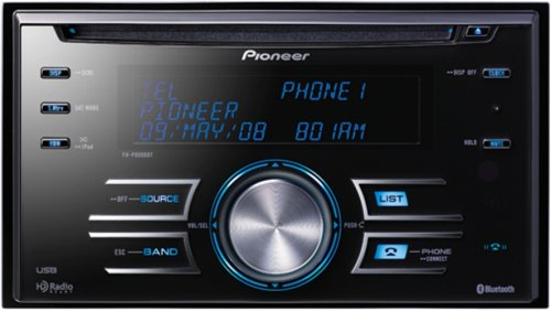 Pioneer FH-P8000BT Double-Din In-Dash CD/MP3/WMA/AAC Receiver with Built-In Bluetooth, iPod Control, and Rear USB Input