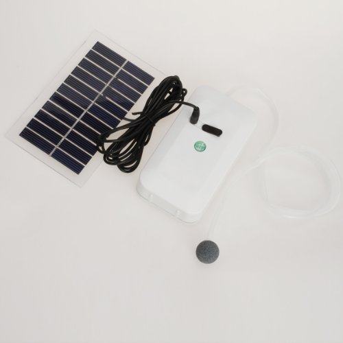 Portable Solar Oxygenator Pool Pond Air Pump Worldwide Fountain Pumps Pond Supplies